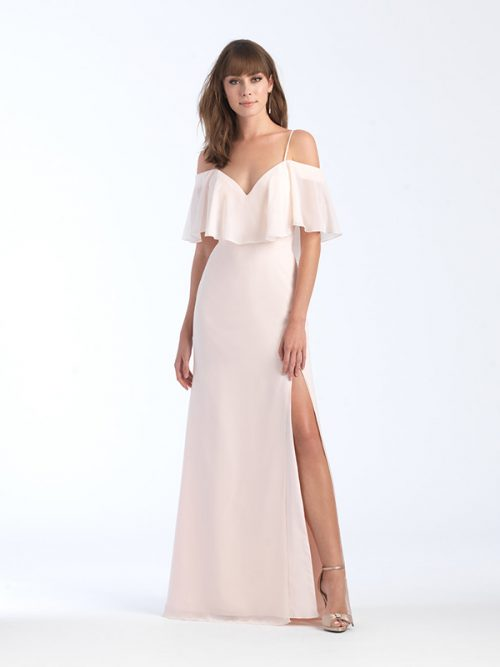 1563 Allure Cropped Bodice Bridesmaid Dress