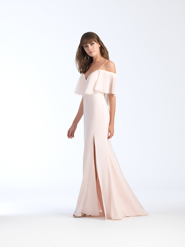 1563 Allure Cold Shoulder Bridesmaid Dress