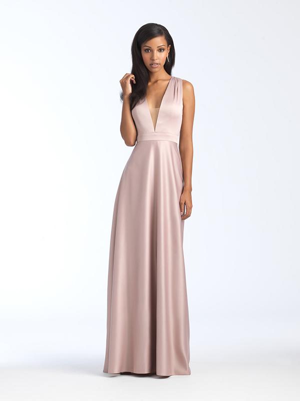 1564 Allure Bridesmaid Dress With Deep Neckline