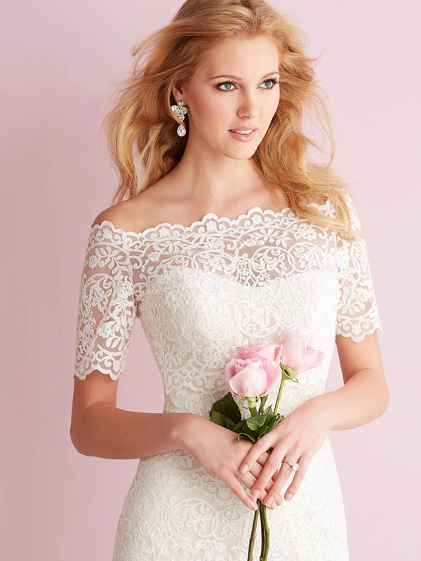 2700 Allure Romace Classic Sheath Bridal Gown
