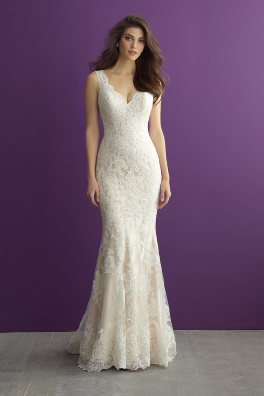 2956 Allure Romance Sheath Wedding Dress