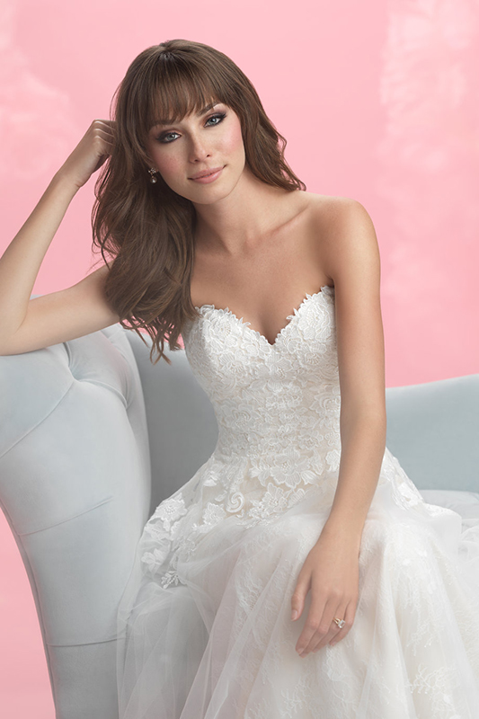 3057 Allure Romance Modern Sheath Bridal Gown