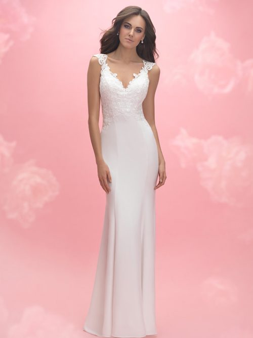 3058 Allure Romance Sheath Bridal Gown