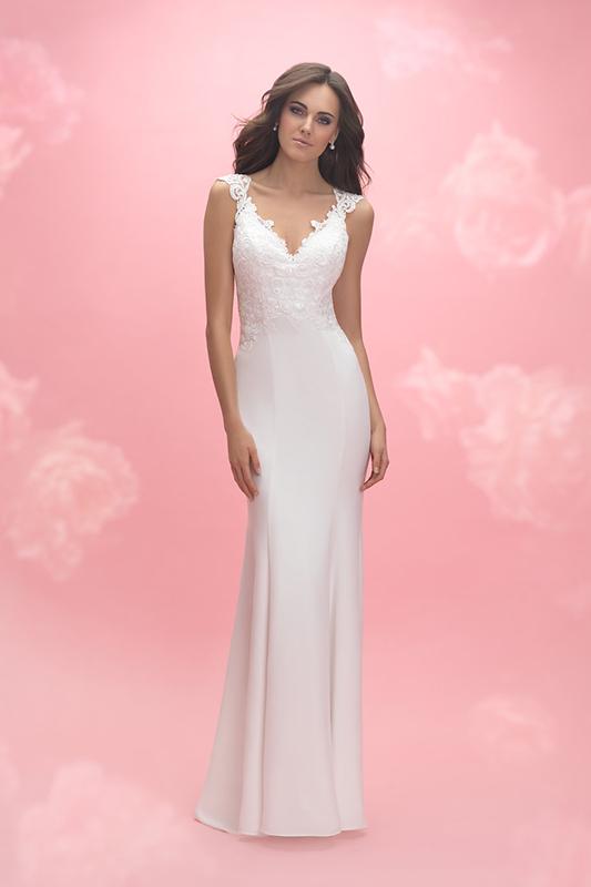3058 Allure Romance Sheath Bridal Gown