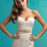 9261 Allure Bridals Fit and Flare Bridal Gown