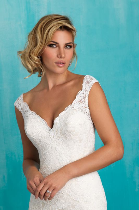 9322 Allure Bridals Fit and Flare Wedding Dress