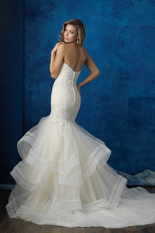 9364 Allure Bridals Fit and Flare Wedding Dress
