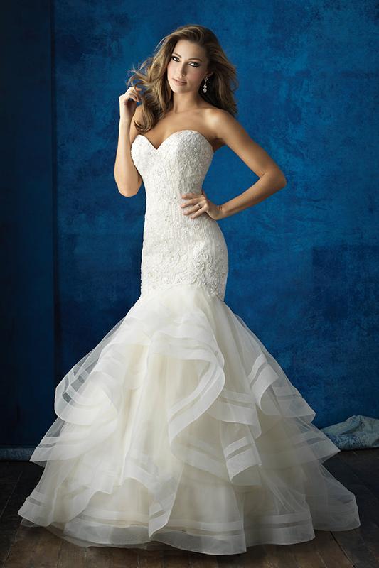 9364 Allure Bridals Modern Wedding Dress