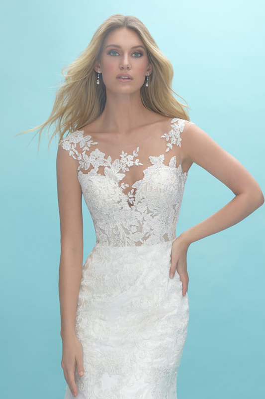 9422 Allure Fit and Flare Wedding Dress