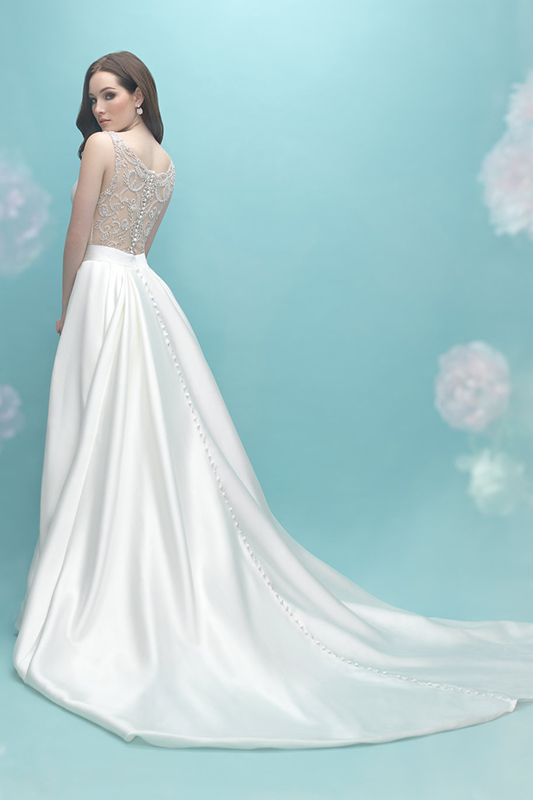9451 Allure Bridals Fit and Flare Wedding Dress