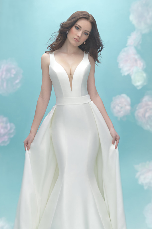 9451 Allure Bridals Modern Sheath Wedding Dress