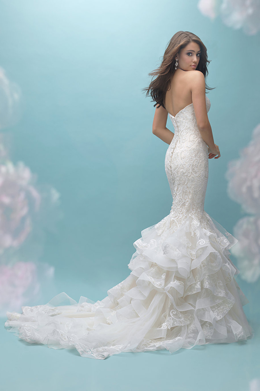 9456 Allure Bridals Fit and Flare Wedding Dress