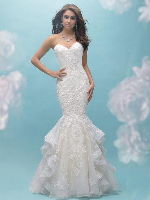 9456 Allure Bridals Modern Wedding Dress