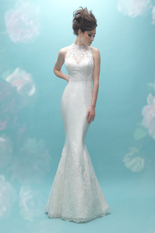 9458 Allure Fit and Flare Wedding Dress