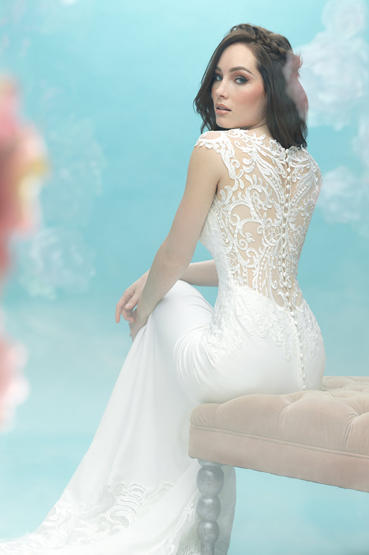 9469 Allure Bridals Sheath Wedding Dress