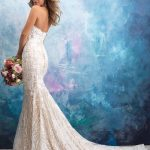 9550 Allure Bridals Sheath Bridal Gown