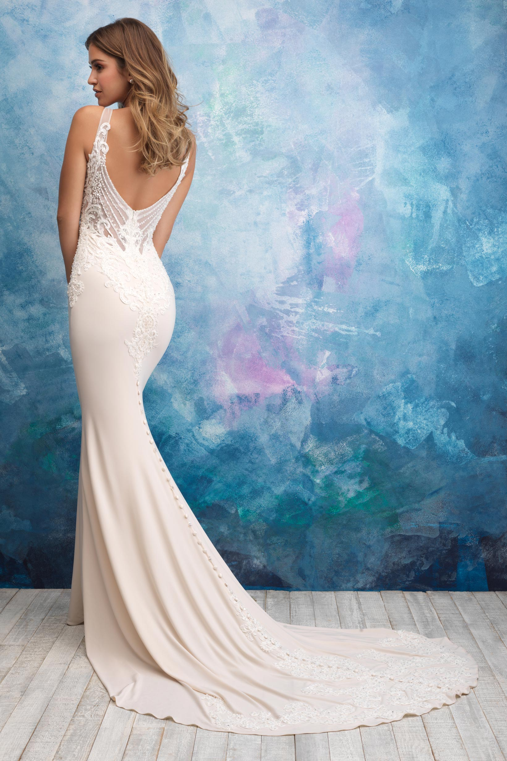 9554 Allure Bridals Sheath Bridal Gown