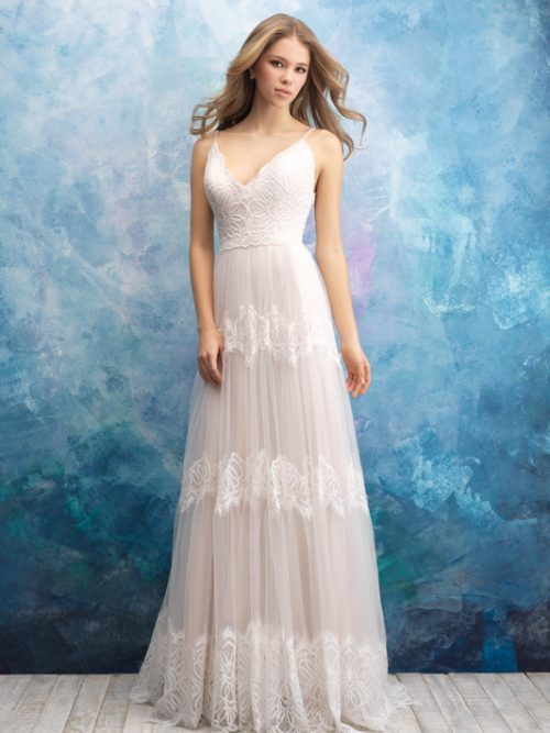 9555 Allure Bridals Vintage inspired Wedding Dress