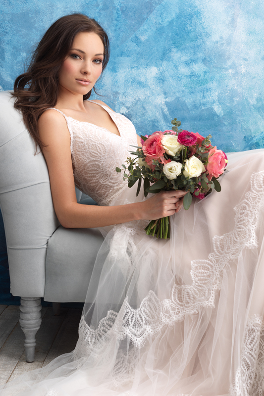 9555 Allure Bridals Vintage Princess Wedding Dress