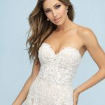 9601 Allure Bridals Fit and Flare Bridal Gown