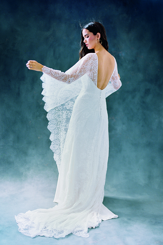 F112 Opal Wilderly Bride Boho Sheath Bridal Gown