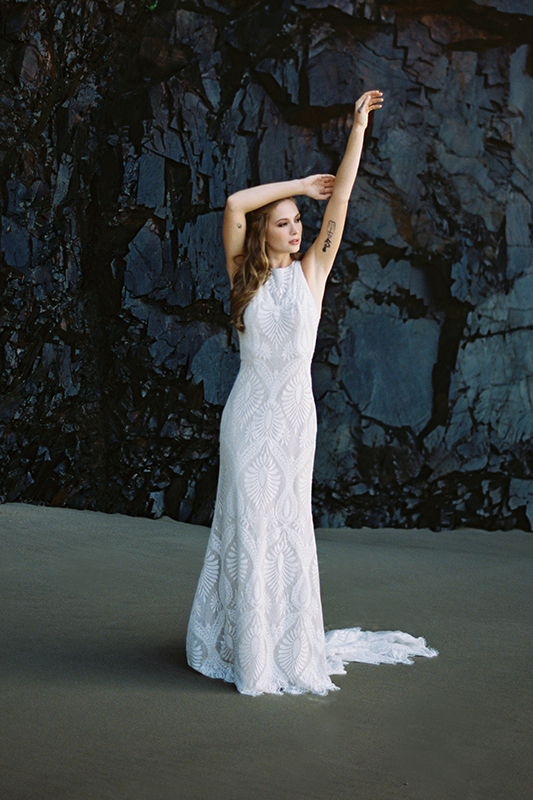 F116 Marlowe Sheath Wedding Dress
