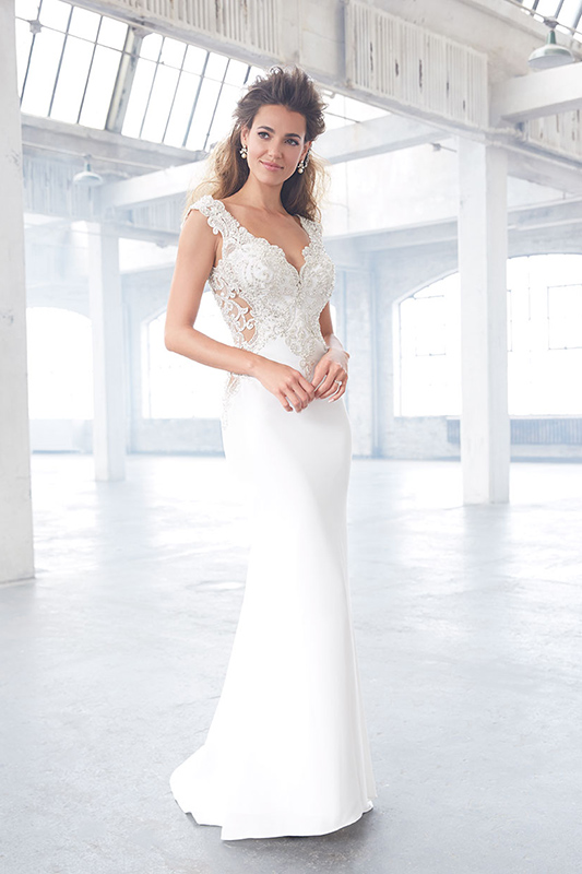 MJ307 Madison James Sheath Bridal Gown