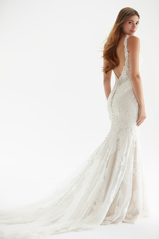MJ405 Madison James Modern Sheath Bridal Gown