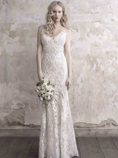 MJ455 Madison James Vintage Inspired Wedding Dress