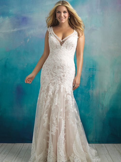 W411 Allure Women Vintage Inspired Bridal Gown