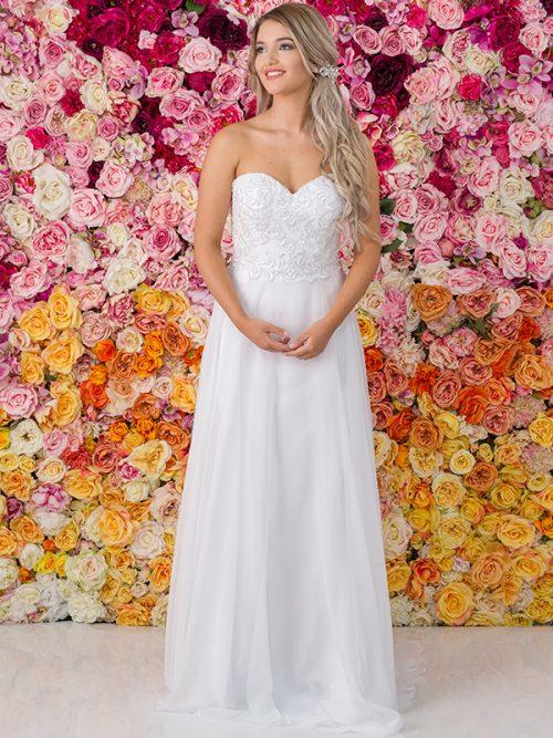 G224 Allure Chiffon Debutante Gown
