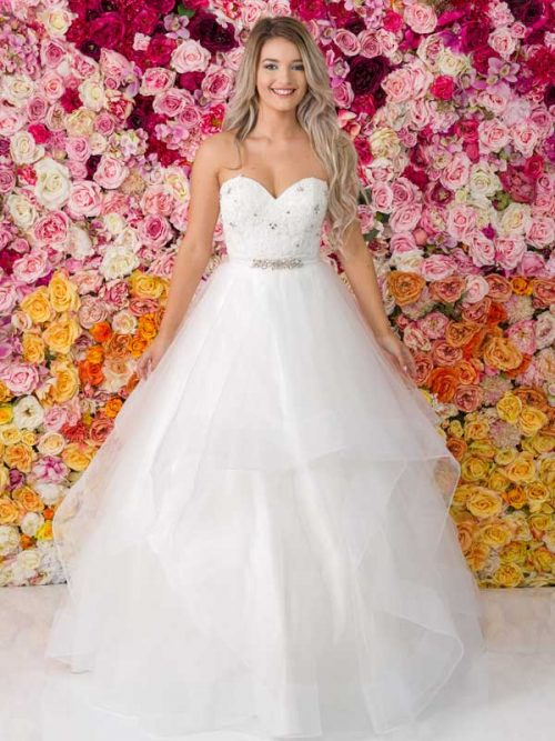 G259 Allure Debutante Gown
